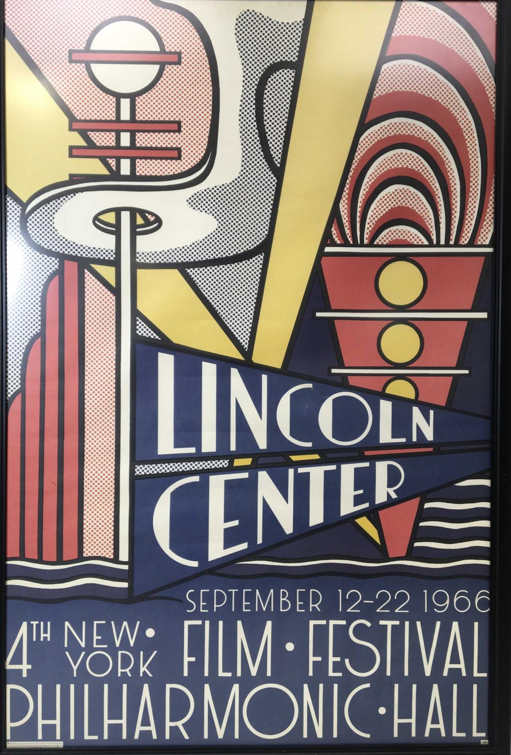 1966 Roy Lichtenstein Lincoln Center Poster