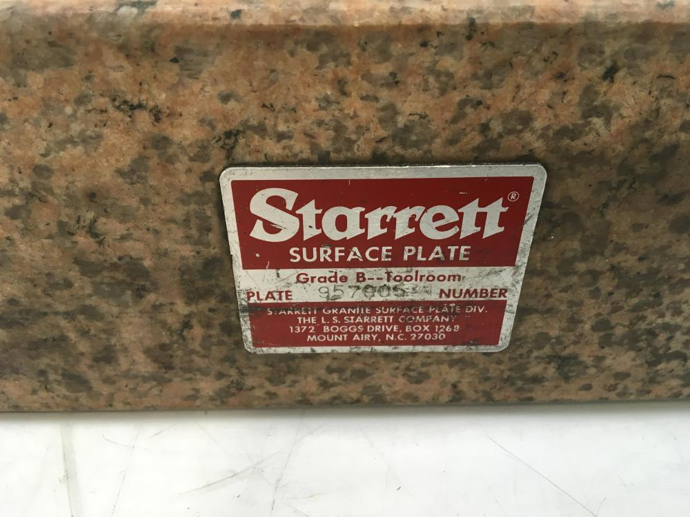 Starrett Crystal Pink Granite Surface Plate