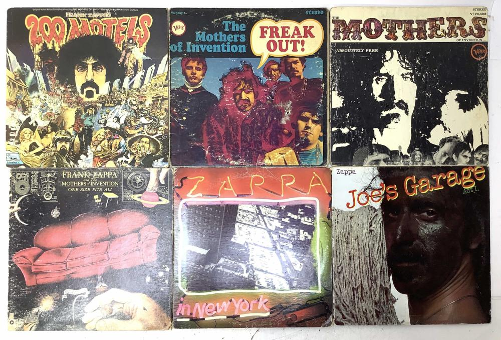 (8) Vintage Frank Zappa Vinyl Record Albums, Joe's