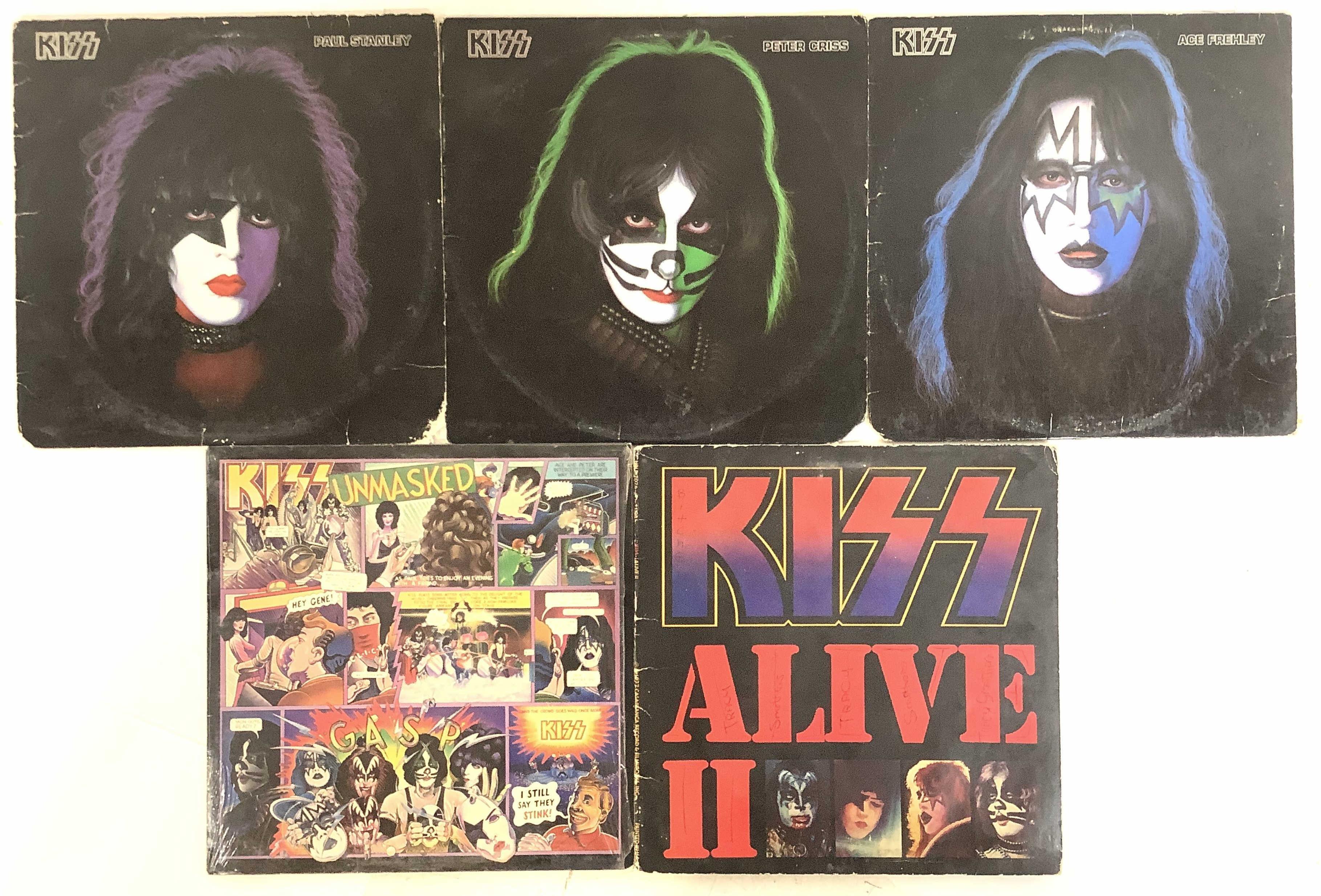 (5) Vintage Kiss Vinyl Records