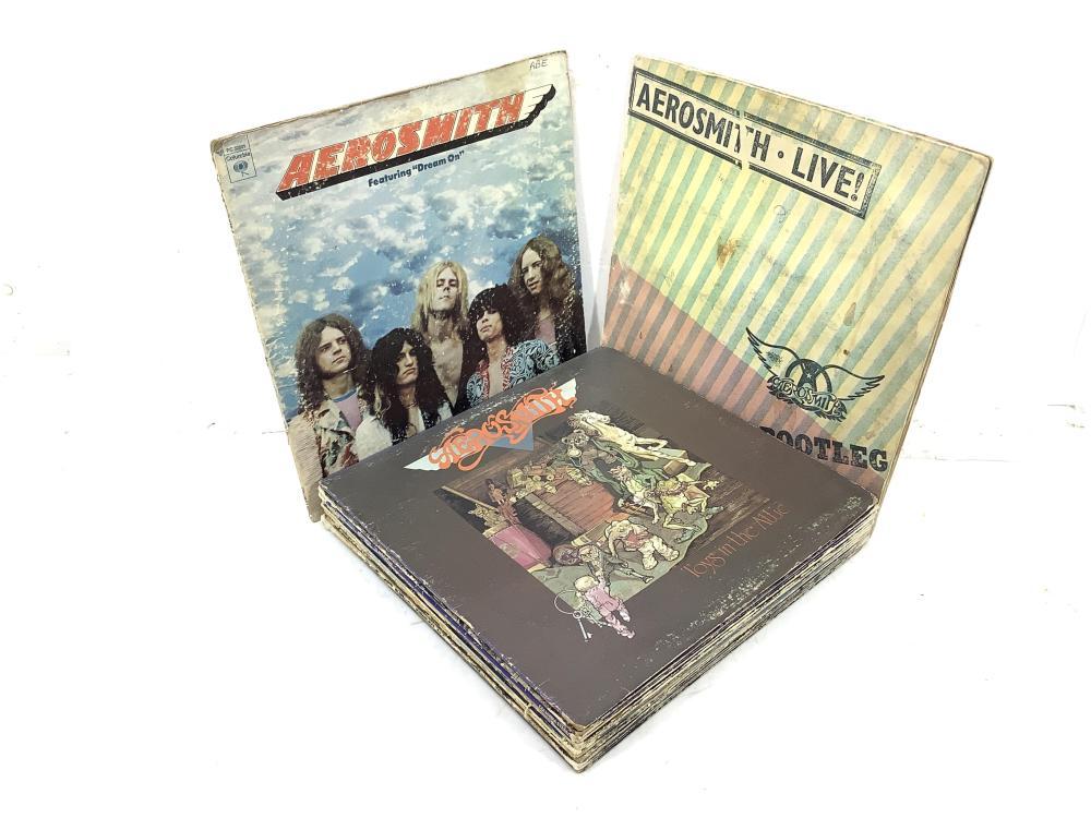 (13) Vintage Vinyl Rock Albums, Aerosmith, AC/DC