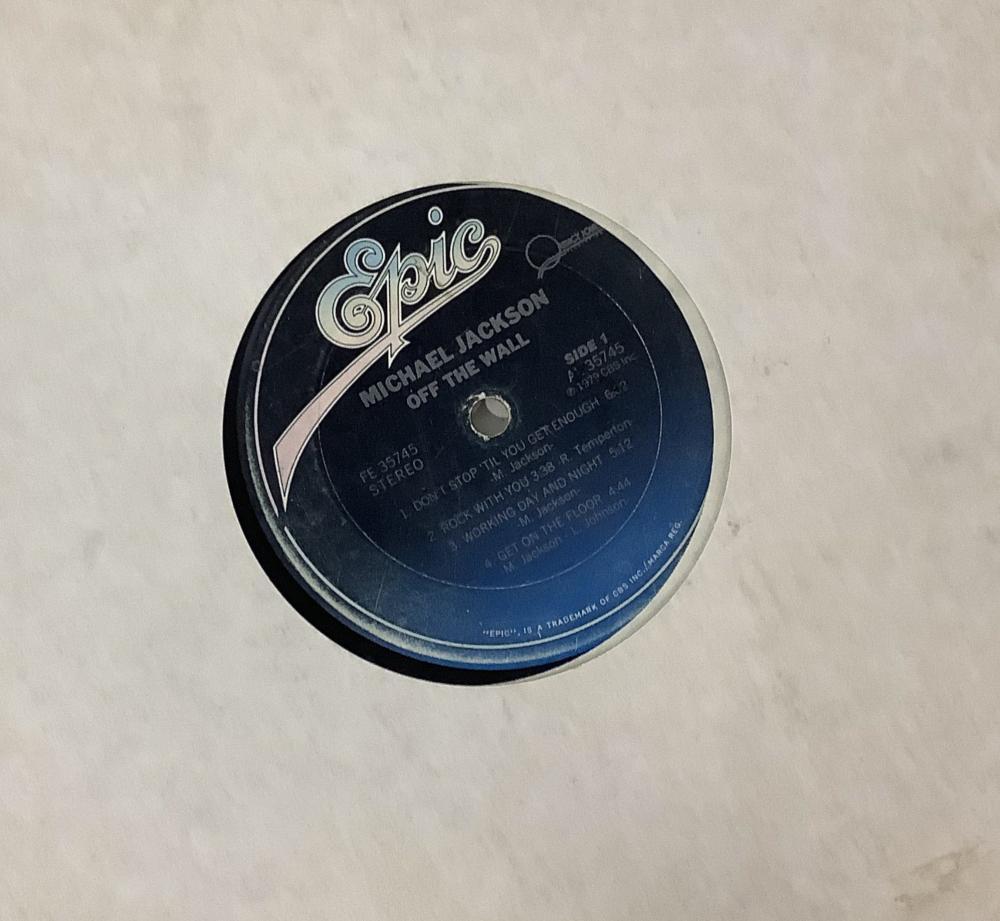 (7) Michael Jackson Vintage Vinyl Record Albums