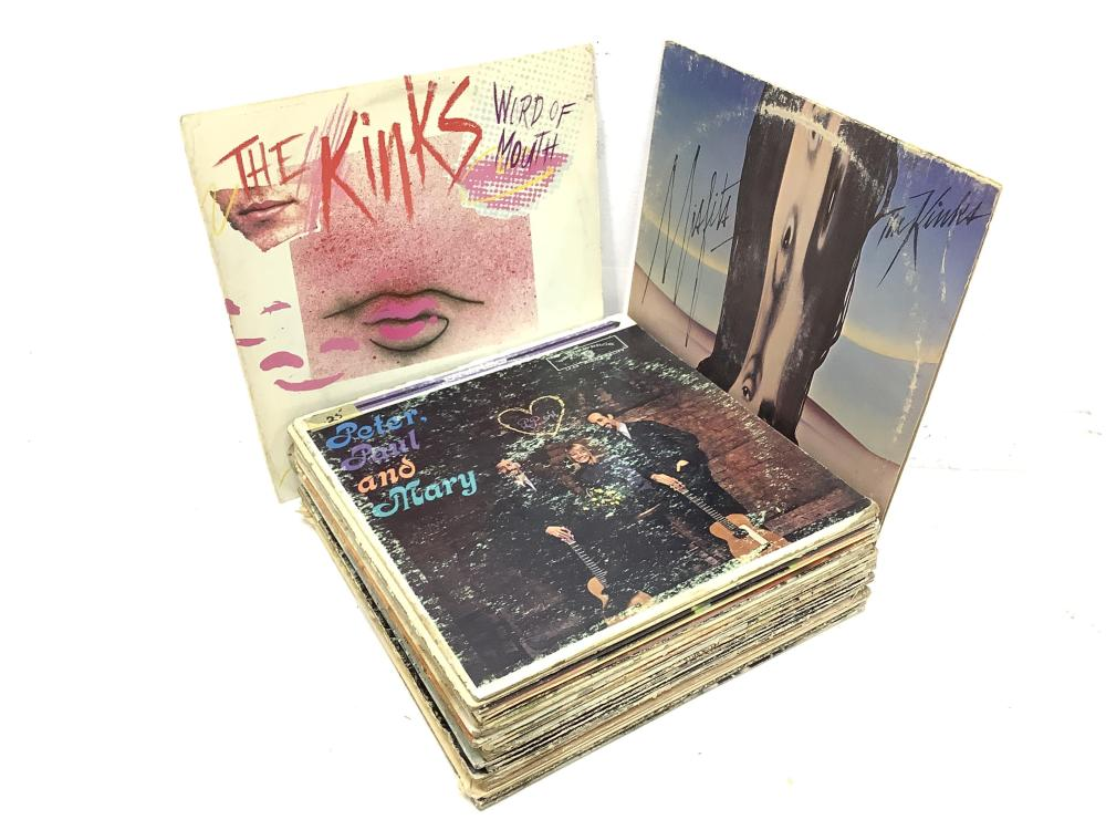 (25) Vintage Vinyl Records, Thin Lizzy, The Kinks