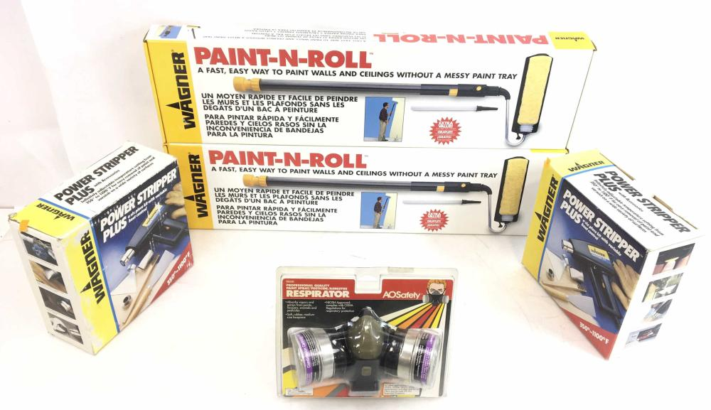 (5pc) Wagner Power Stripper Plus, Paint-n-Roll