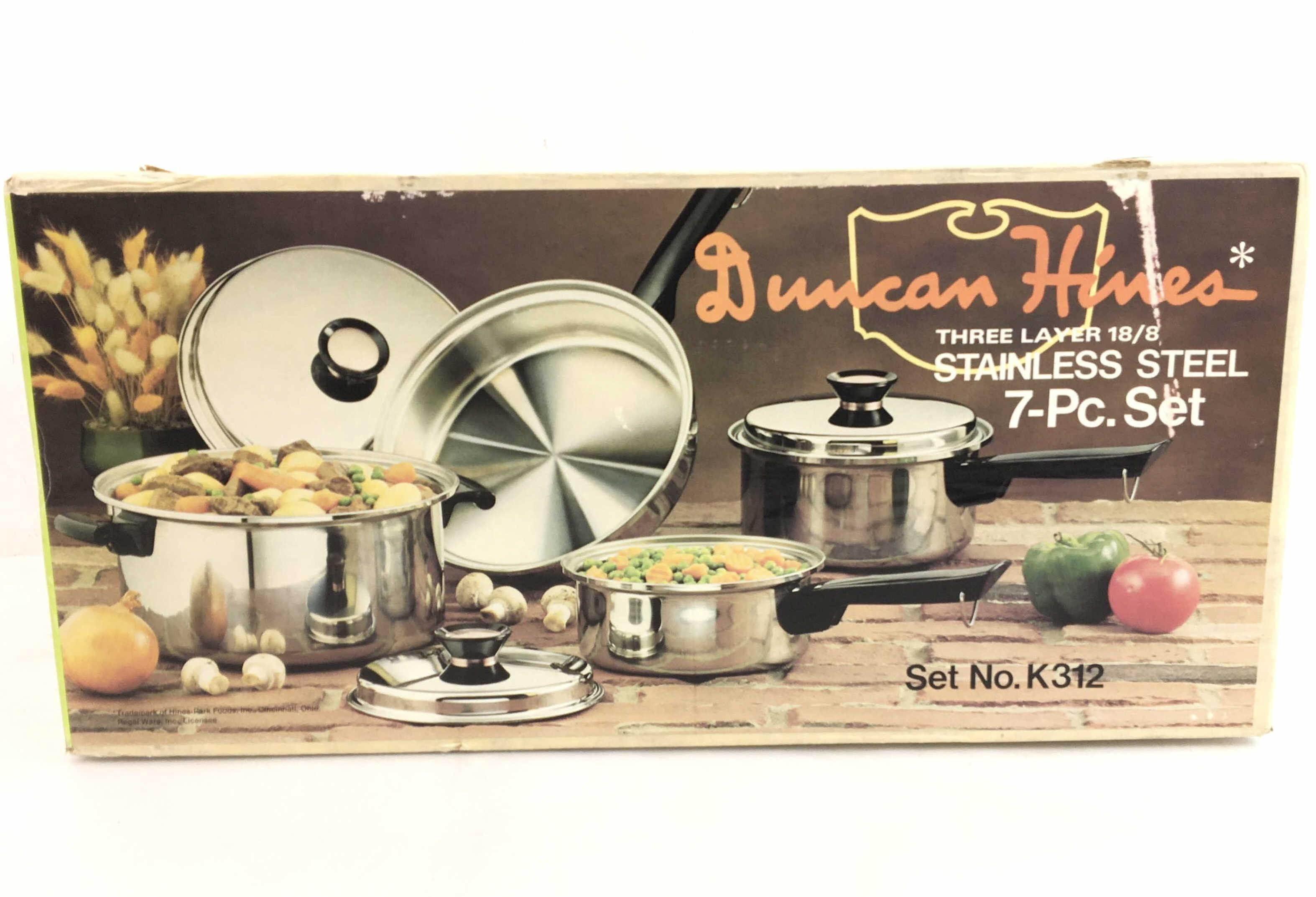 (7pc) Duncan Hines Three Layer 18/8 Stainless