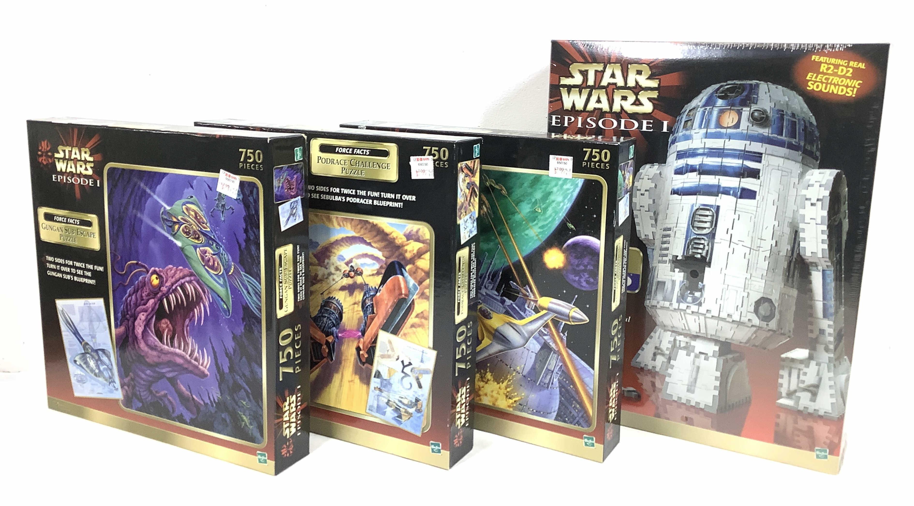 Lot - (4c) Hasbro Star Wars Episode 1 Puzzles