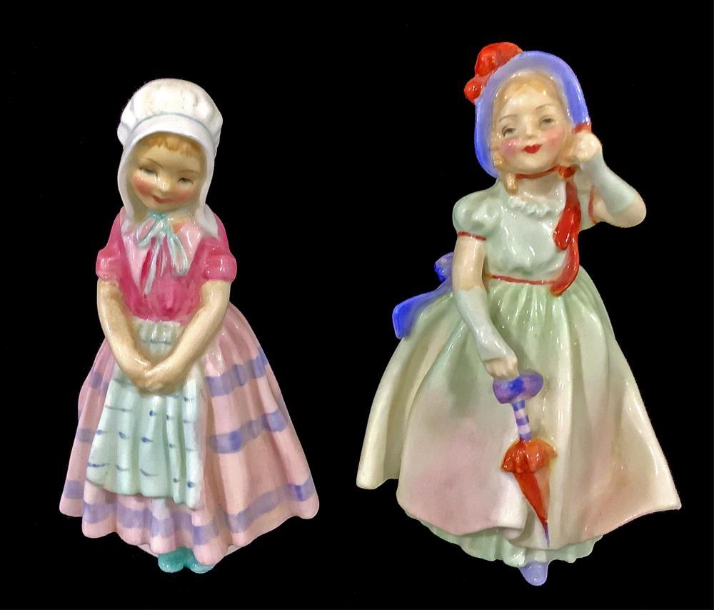(2pc) Royal Doulton Figures, Tootles & Babie