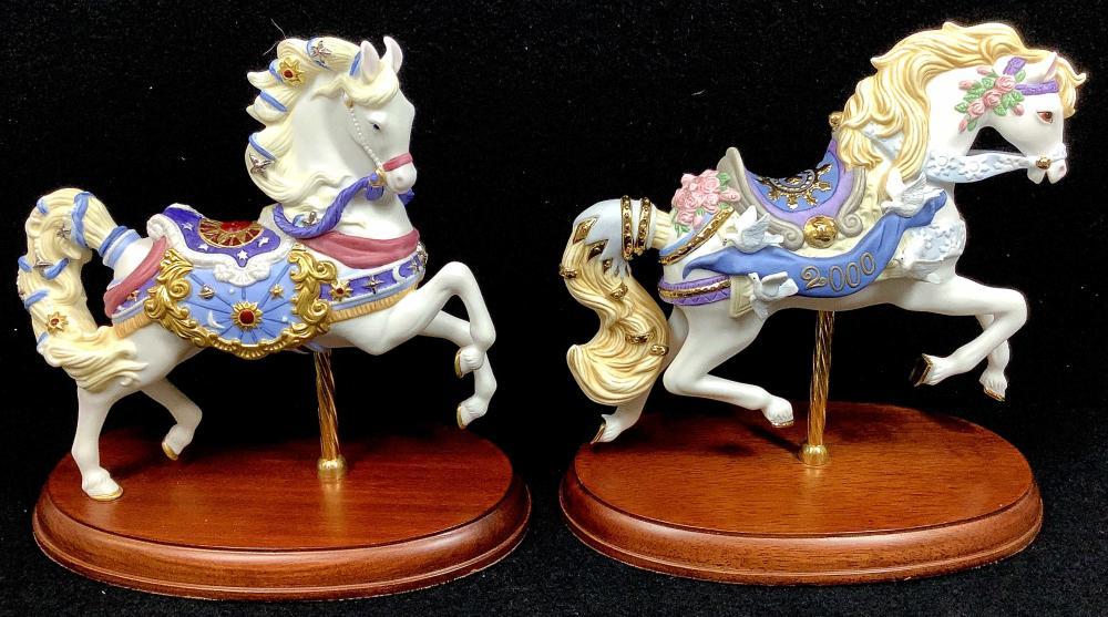 (2pc) Lenox Porcelain Horses
