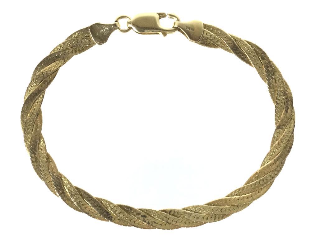 14K Gold Italian Bracelet
