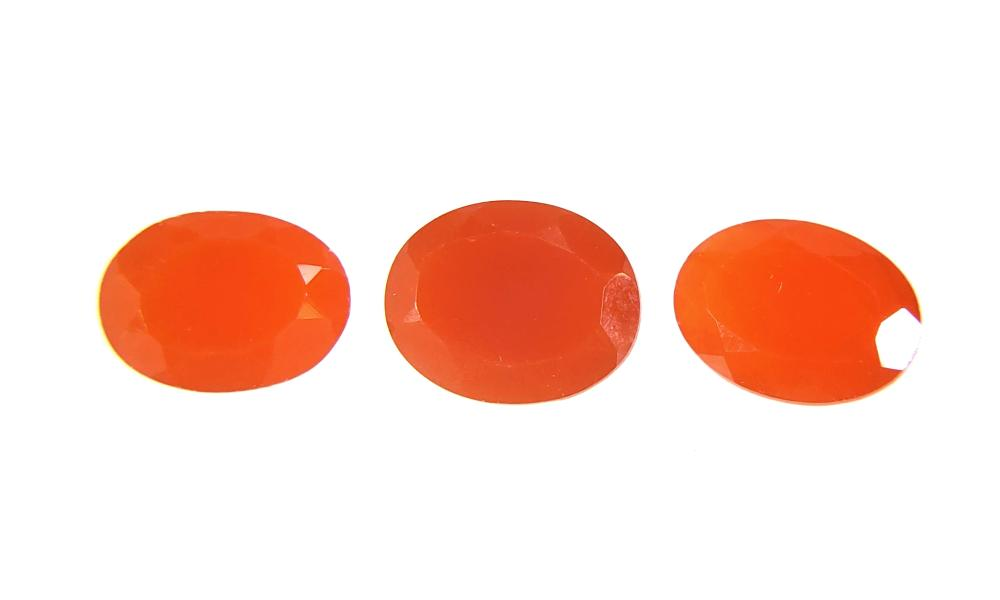 (3pc) Red, Orange & Brasa Mexican Fire Opals