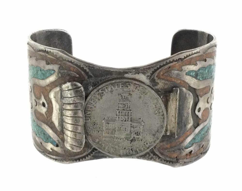 Vintage R. J. Bickel Phoenix Sterling Silver Cuff