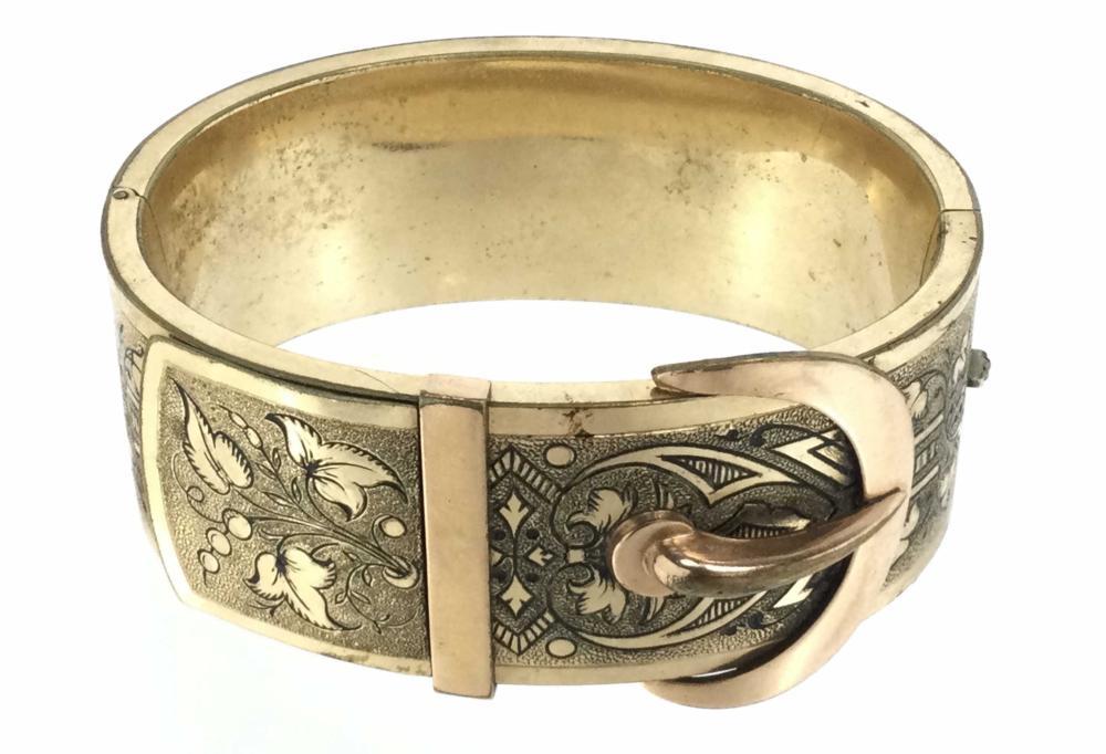 Victorian B & B Gold Filled Bracelet