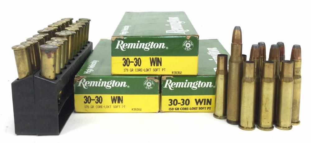 (87) Rds. Remington 30-30 Win. Rifle Ammunition