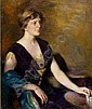 MARY BREWSTER HAZELTON, American, 1868-1953, Por, Mary Brewster Hazelton, Click for value