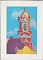 LOIS COHEN, American, 1933-, Provincetown Town Hall., Pastel on paper, 30
