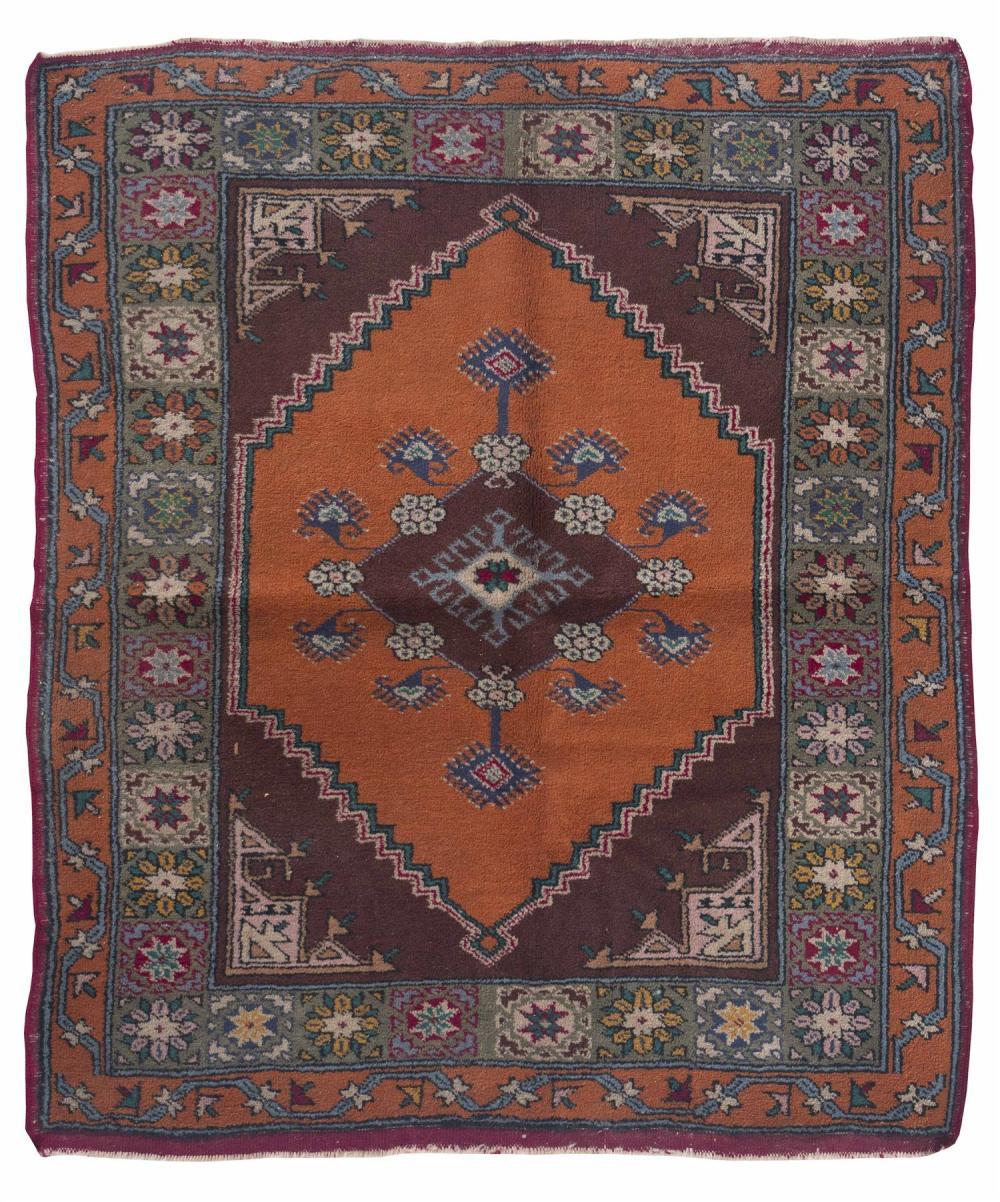 Oriental Rug Turkish 3 8 X 4 5 Brown Central Medallion Wi