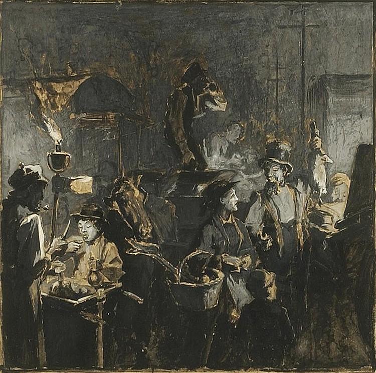JAMES EDWARD KELLY, American, 1855-1933,