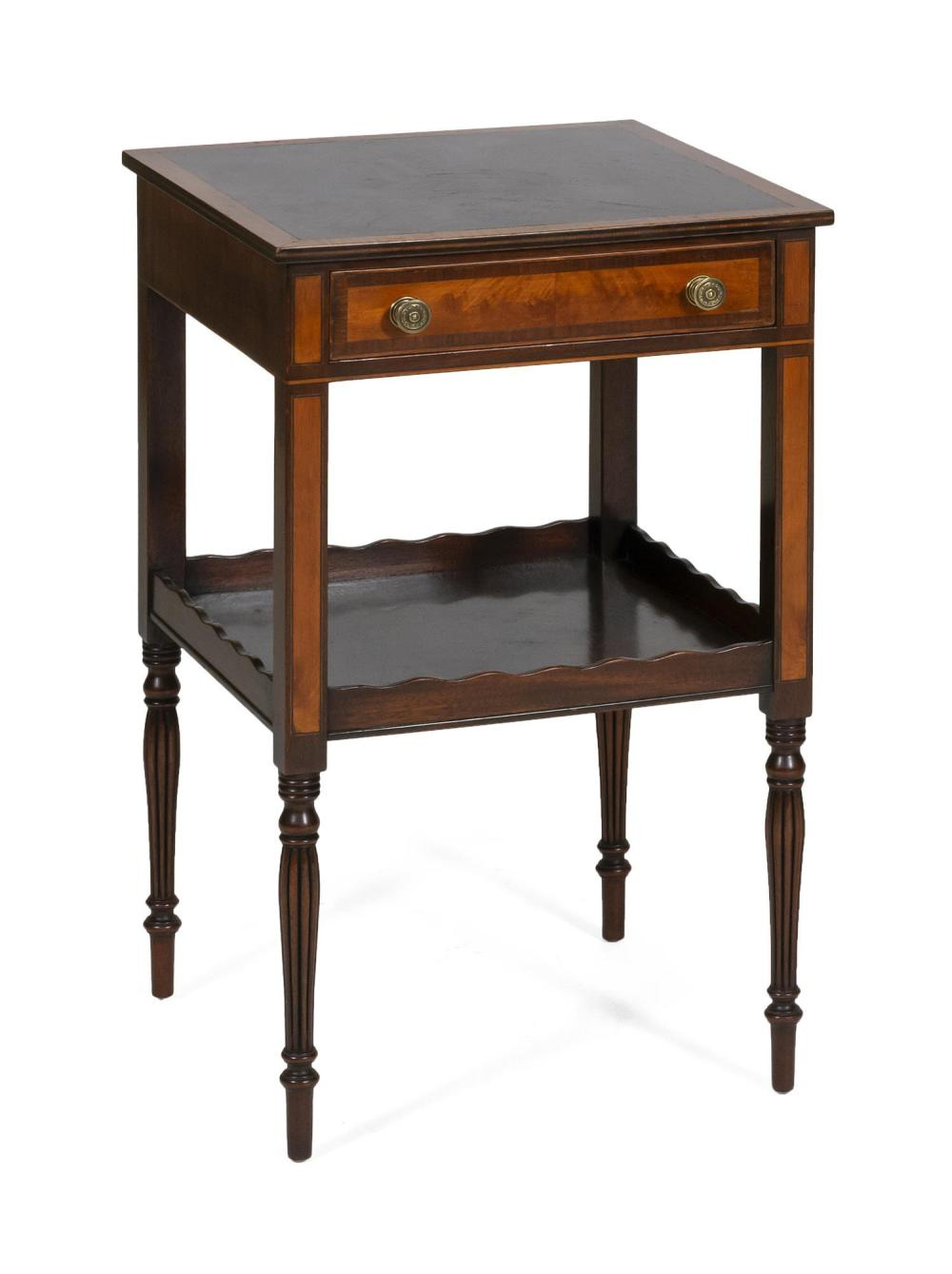 Sheraton Style Work Table Attributed To Kaplan Furniture Th