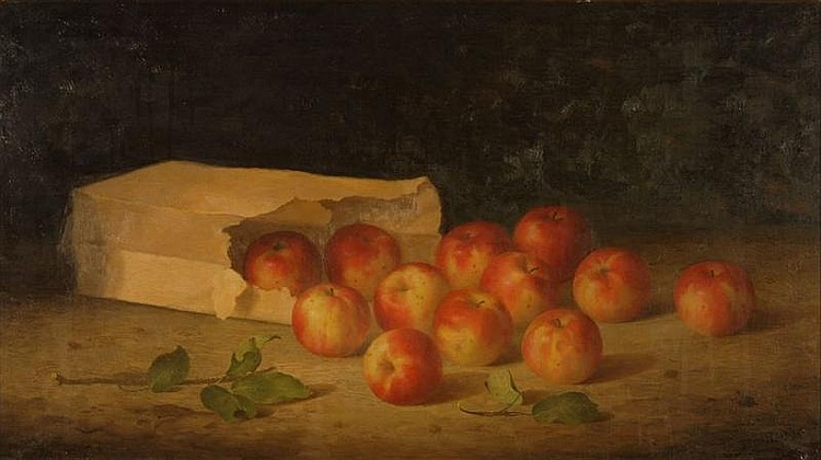 BRYANT CHAPIN - IMPORTANT STILL LIFE OF APPLES