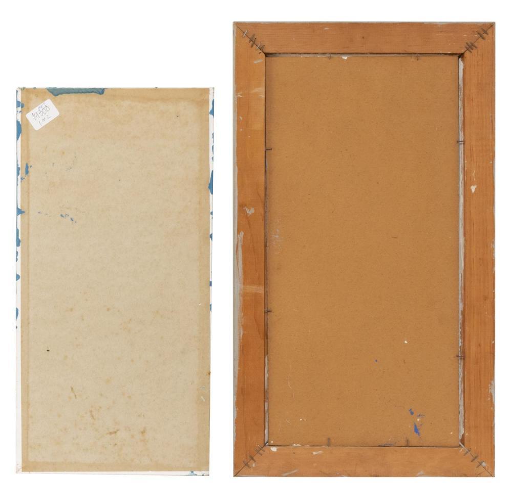 LYMAN (HOPI) FRITZ HOPKINS, Provincetown, Massachusetts, 1928-2002, Two works:, Oils on board, 20