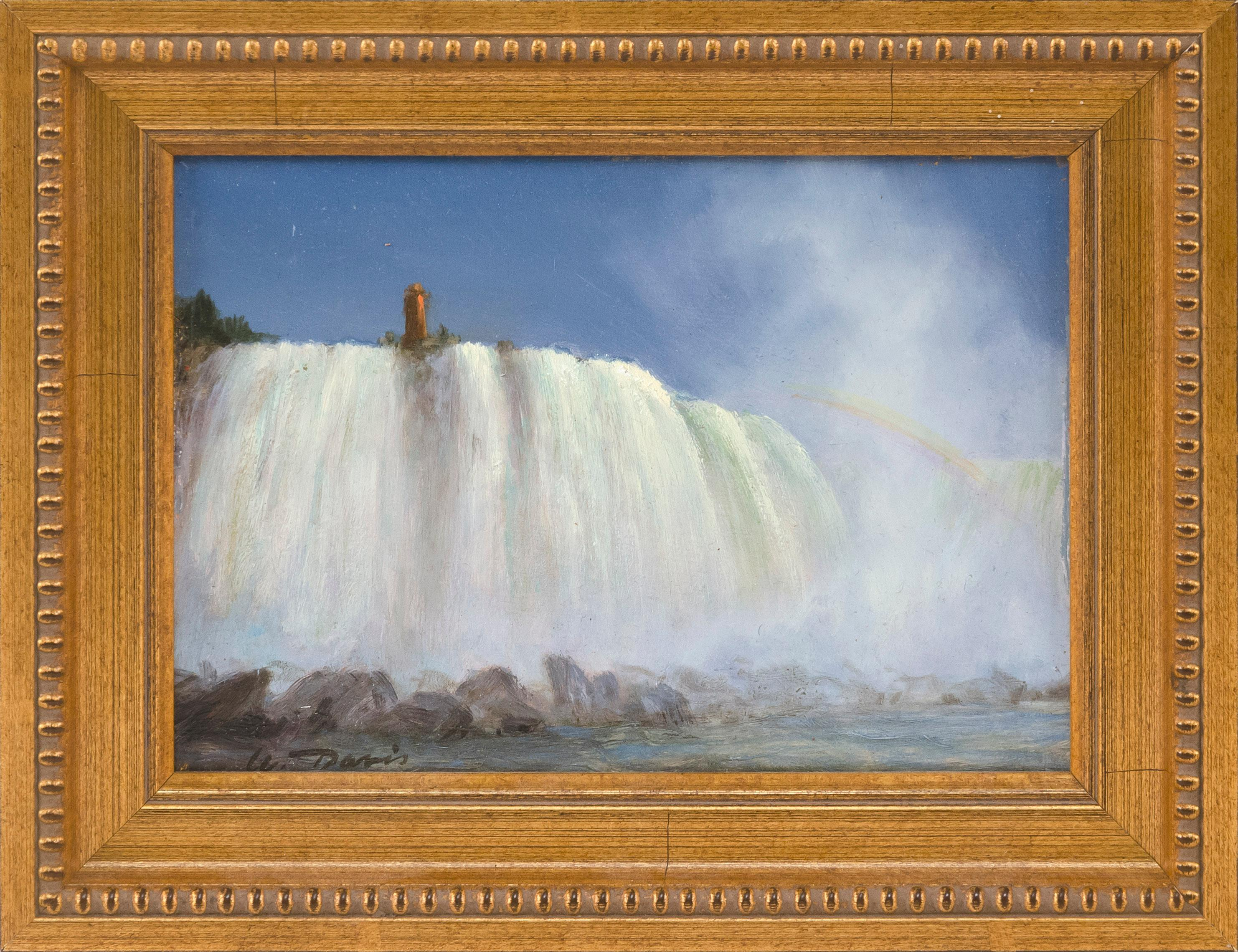 "WILLIAM R. DAVIS, Massachusetts, b. 1952, ""Niagara Falls""., Oil on panel, 5"" x 7"". Framed 7"" x 9""."