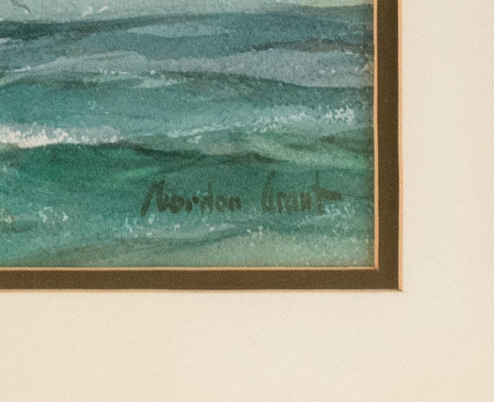GORDON HOPE GRANT, New York/California/United Kingdom, 1875-1962, Seascape with seagulls., Watercolor on paper, 14.25