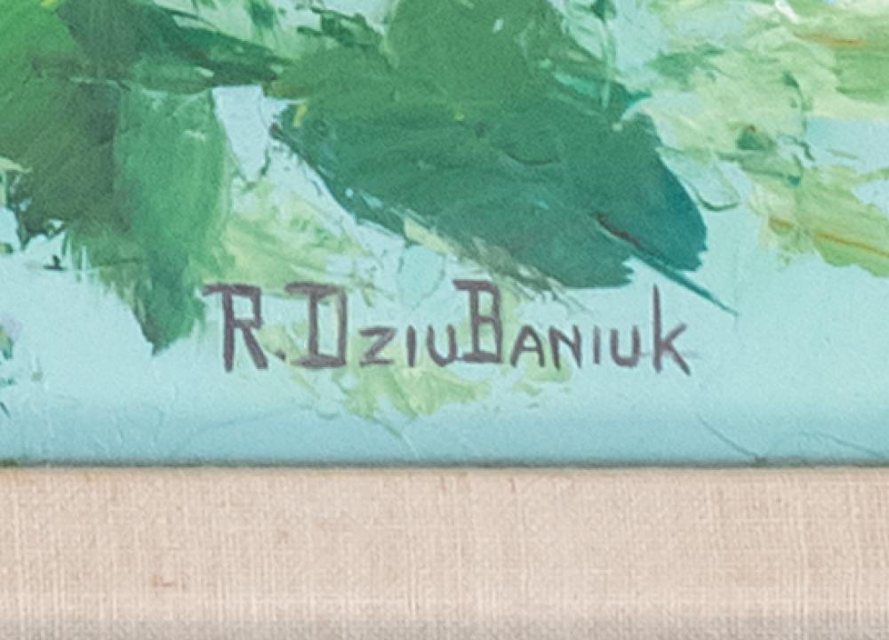 ROBERT E. DZIUBANIUK, United States, Contemporary, Still life of lilacs., Oil on board, 24