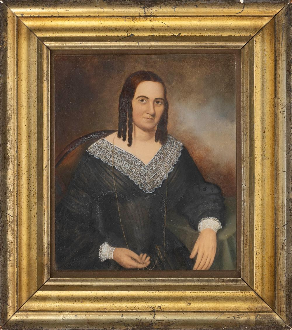 ATTRIBUTED TO THOMAS BUCHANAN READ, New York/Pennsylvania, 1822-1872, Mrs. Patterson of Donegal Township, who died in 1870., Mixed m...