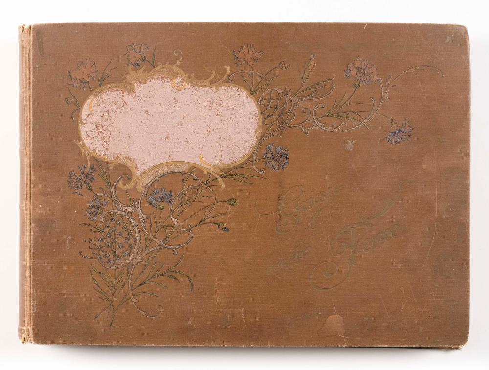 ANTIQUE GERMAN POSTCARD ALBUM Filled with approx. 273 contemporaneous European postcards, primarily from Germany and Switzerland. Al...