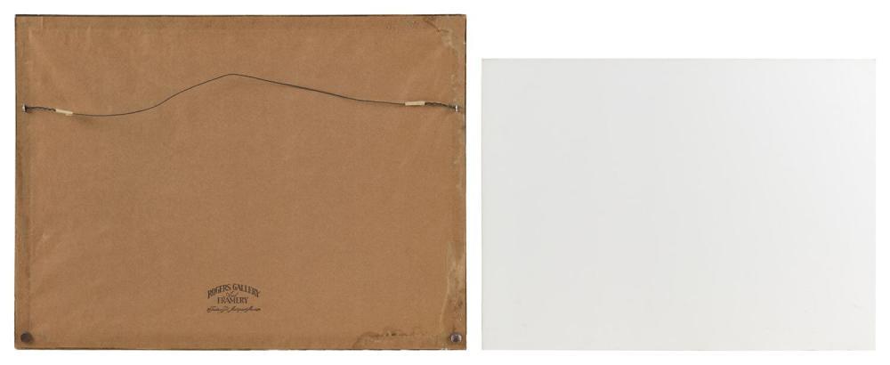 EDWARD ALGERNON STUART DOUGLAS, United Kingdom, 1848-1918, Pair of hunting scenes., Watercolors on paper, 8