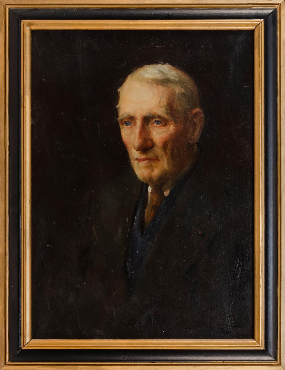 """HAROLD MATTHEWS BRETT, Massachusetts/New York, 1880-1955, """"Portrait of Tommy Shattuck""""., Oil on canvas, 26"""" x 18"""". Framed 30"""" x 22.5""""."""