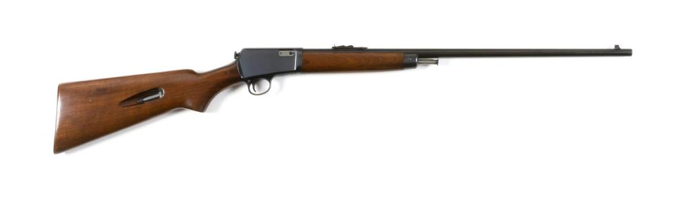"* WINCHESTER MODEL 63 SEMI-AUTOMATIC RIFLE .22 cal., Serial #86977. Blued finish. Minor wear. Length of barrel 23"". Overall length 3..."