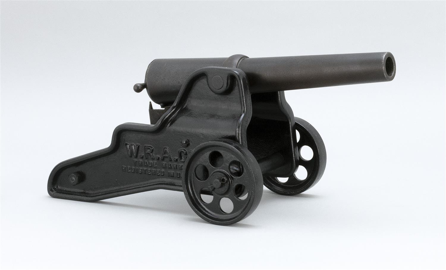 """WINCHESTER SIGNAL CANNON 10-ga., no serial number. Finish loss and wear. Length of barrel 12"""". Overall length 18""""."""