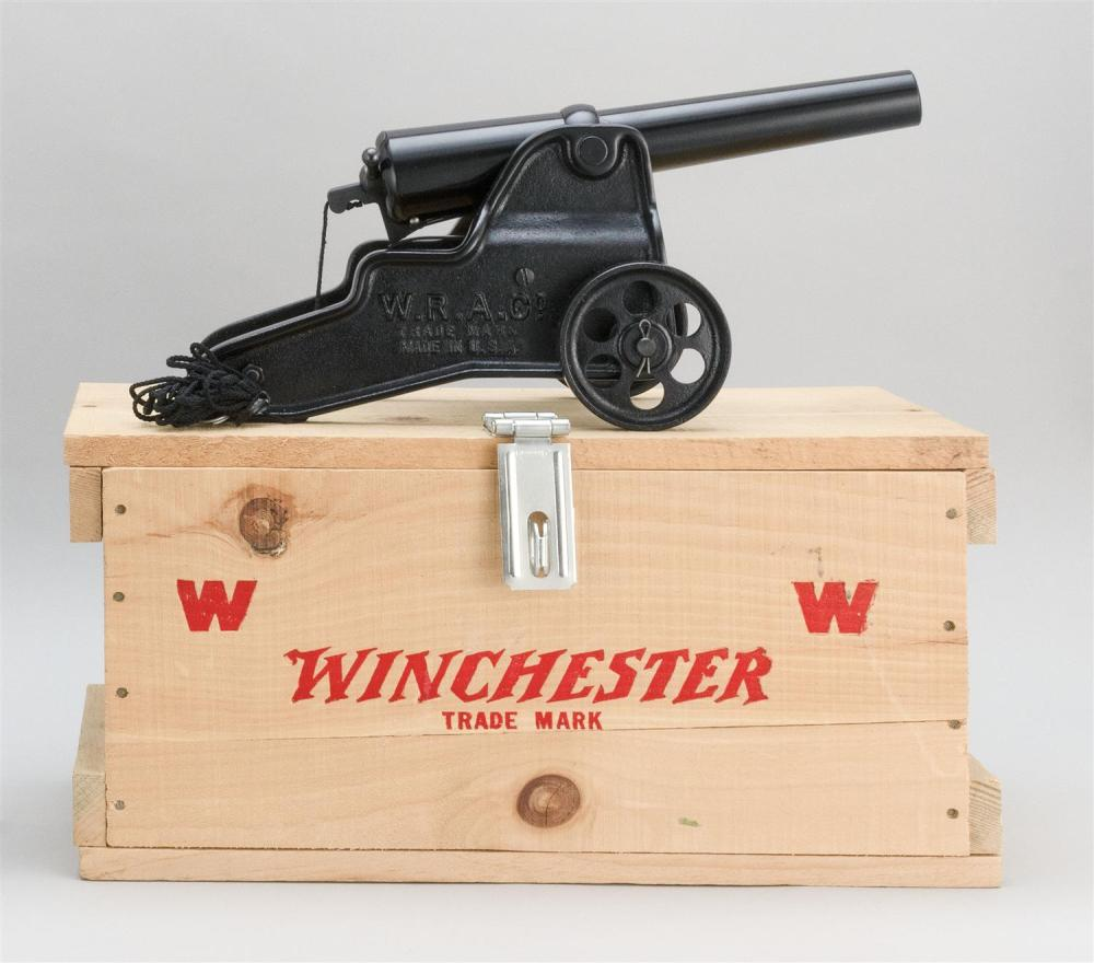 WINCHESTER SIGNAL CANNON 10-ga., Serial #007000. Black painted finish. Length of barrel 12