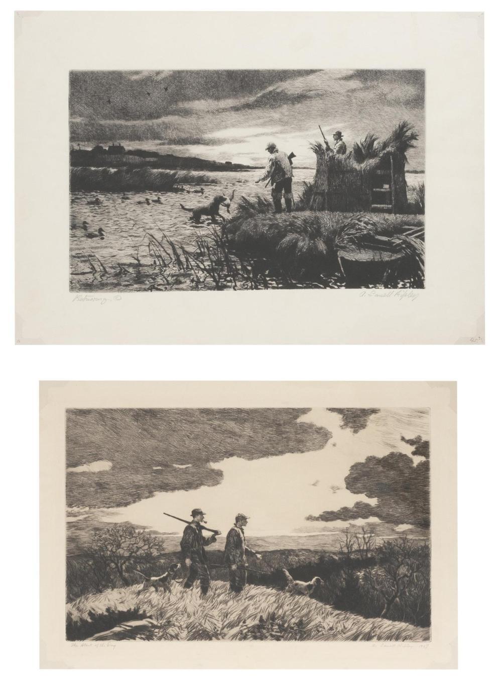 AIDEN LASSELL RIPLEY, Massachusetts/New York, 1896-1969, Two works: