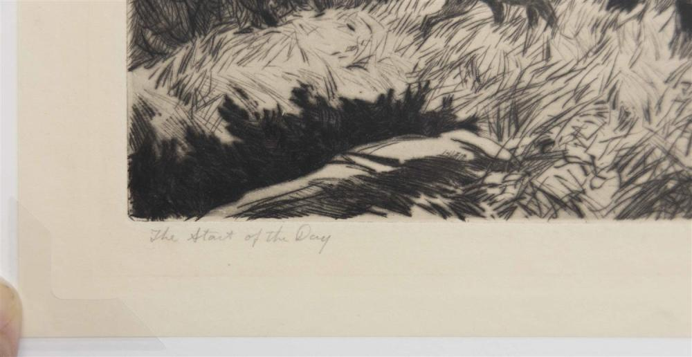 AIDEN LASSELL RIPLEY, Massachusetts/New York, 1896-1969, Two drypoint etchings: