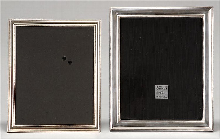 TWO SILVER PICTURE FRAMES: one silver plated, 8