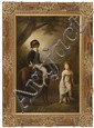 FRAMED PAINTING: UNTRACED ARTIST (20th Century). In the manner of Thomas Sully. Depicting a boy riding on a pony while accompanied b...