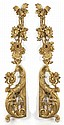 PAIR OF ORNAMENTAL GILT SWAGS In flower, leaf and scroll design. Length 56½