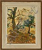 FRAMED PAINTING: CHARLES LLOYD HEINZ (American, 1884-1953). Landscape with tree. Signed lower right. Provenance: The artist to Lilia...