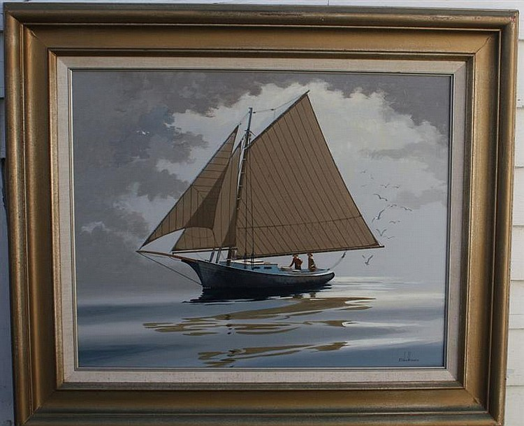 FRAMED PAINTING: BEN NEILL (American, 20th Century). Signed lower right