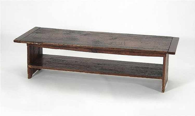 COFFEE TABLE BY THE WEST BARNSTABLE TABLE COMPANY In Pine. Top With  Breadboard Ends.