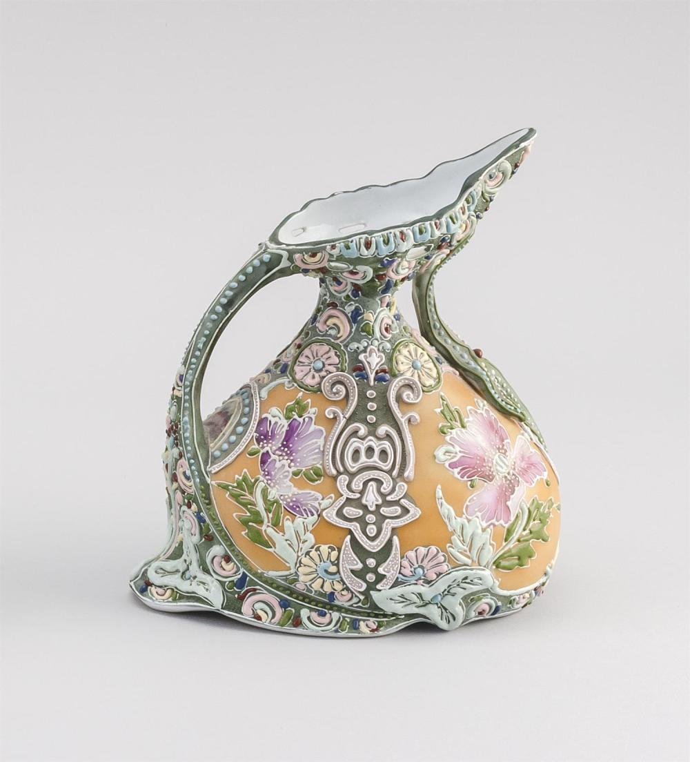 MORIAGE NIPPON PORCELAIN EWER In pear form, with floral design. Height 7.5
