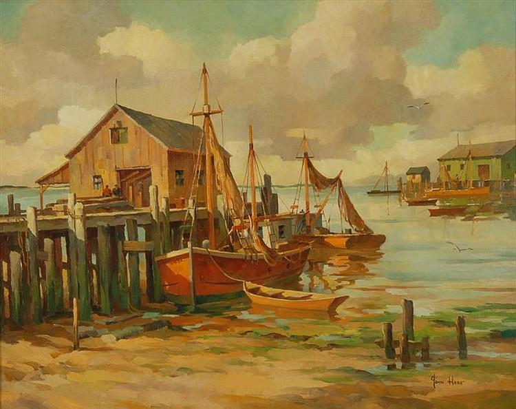 JOHN CUTHBERT HARE - PROVINCETOWN OIL