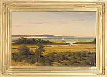 JOSEPH MCGURL, American, b. 1958, View of Nantucket., Oil on masonite, 24