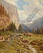 JOHANN JOSEF GEISSER, American, 1824-1894, Swiss mountain landscape., 18½