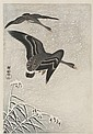 OHARA SHOSON Depicting geese flying in snow., Ohara Shoson, Click for value
