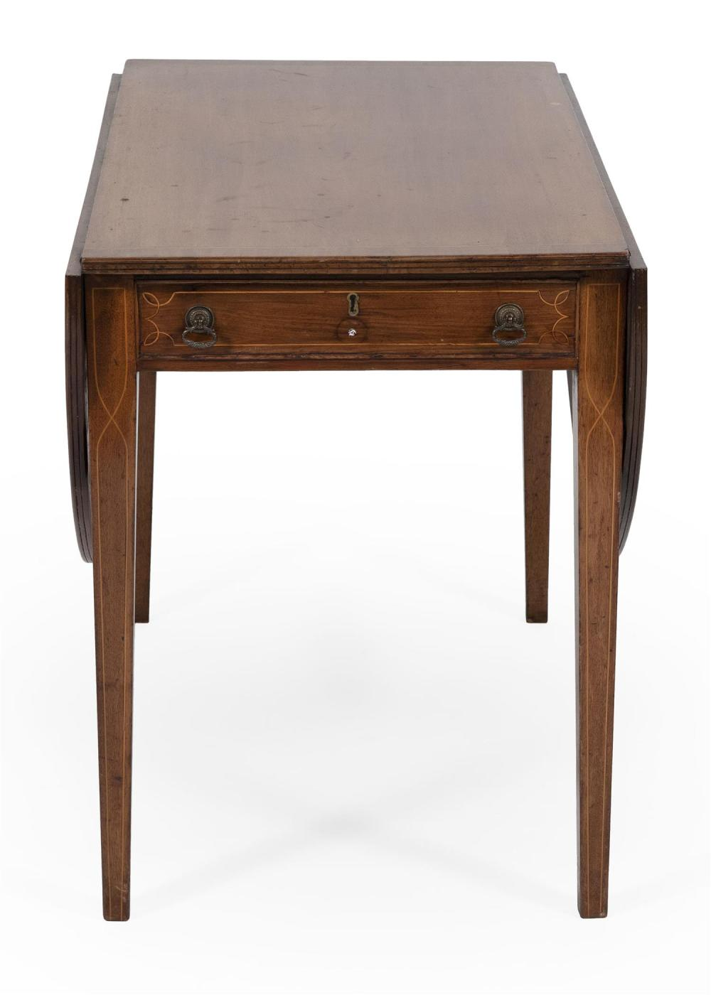 ONE-DRAWER PEMBROKE TABLE Hardwood, made up from new and old parts. Height 28.5