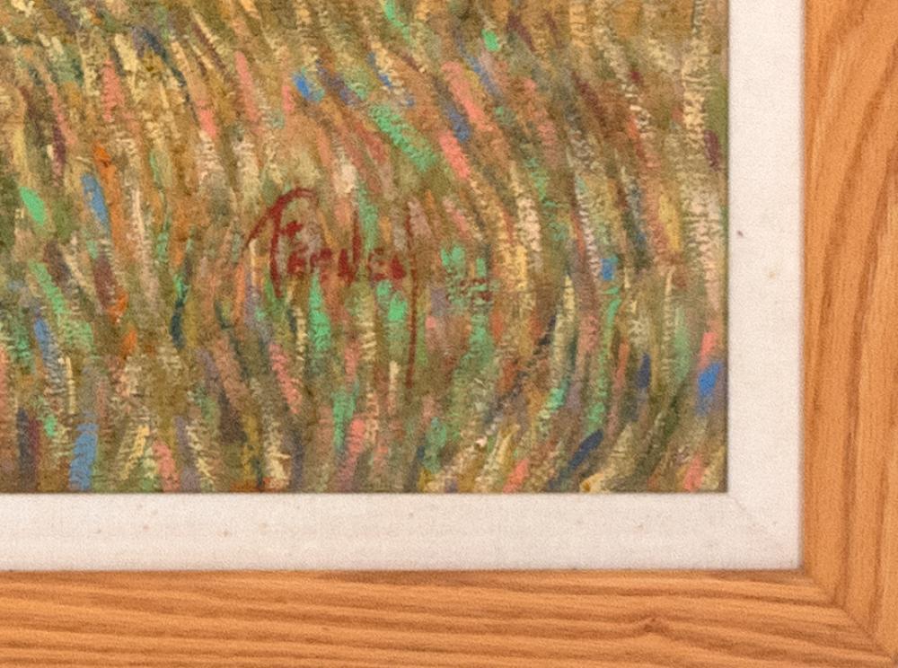 LORETTA FEENEY, Massachusetts, b. 1961, Marsh landscape., Oil on canvas, 42