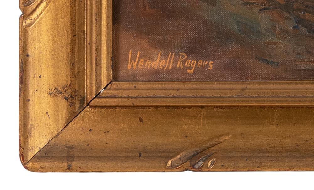 WENDELL M. ROGERS, Massachusetts, 1890-1973, Sunset harbor., Oil on canvas, 20